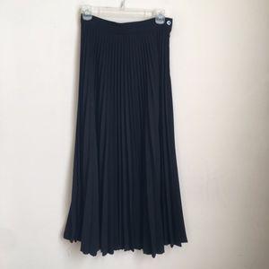 Vintage Liz Claiborne Black Pleated Skirt